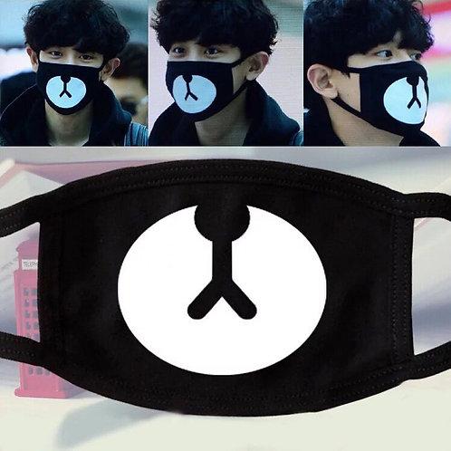 1PCS Black Mouth Mask Reusable Mask Washable  Mouth Mask Bear Masks Meow Mouth