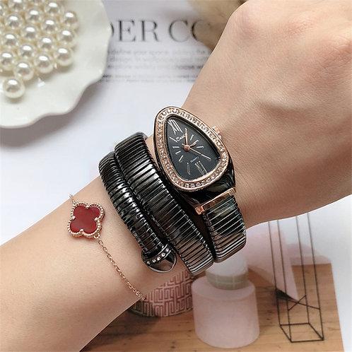 Cool Snake Bangle Watch Fashion Infinity Bracelet Watch Vogue Brand Quartz