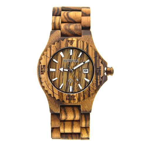 Custom Quartz Handcrafted Wooden Watches Bewell Wooden Wristwatch