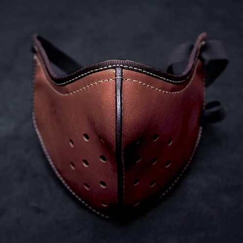 Protection Face Mouth Cover Leather Mask Motorcycle Biker Half Face Breathable