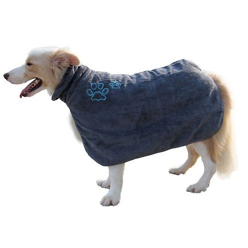 Dog Bathrobe Pets Clothes HQ Super Absorbent Pet Drying Towel Embroidery