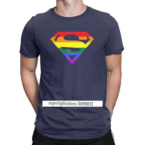 T Shirt Round Neck Cotton T Shirt Rainbow Gay Lesbian Pride LGBTQ LGBT Tshirts