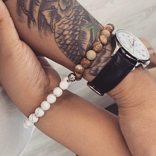 Attractive Couples  Best Friend Stoned Bracelet Natural Volcanic Rocks