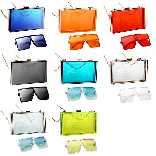 2021 Matching Purse and Sunglasses Women Purses and Glasses