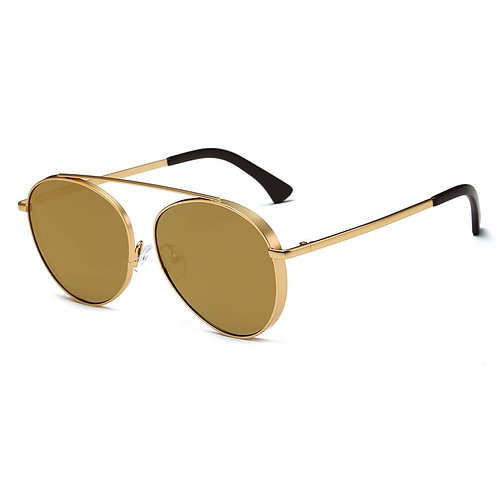 BETHEL | CA08 - Retro Mirrored Lens Teardrop Aviator Sunglasses