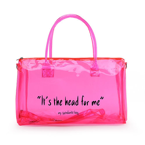 Spend  Night Duffel Weekend Overnight Shoulder Clear PVC  Clear Bag   Colorful