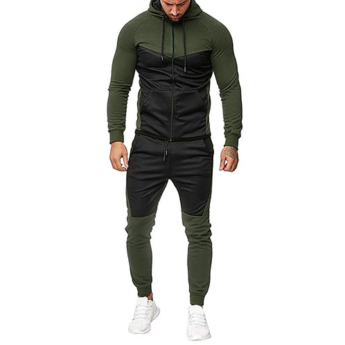 Two Piece Set Mens Casual Hooded Sports Sweat Suit Men Track Suit