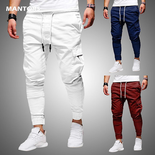 Fashion Casual Jogger Pants 2020 Streetwear Cargo Pants Men's Multi-Pockets