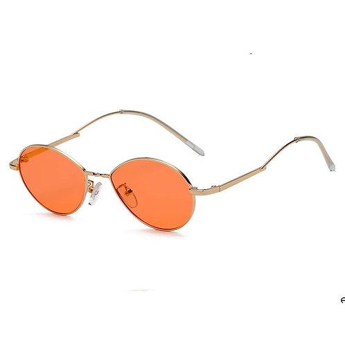 HICKORY | S3009 - Small Retro Vintage Metal Round Sunglasses