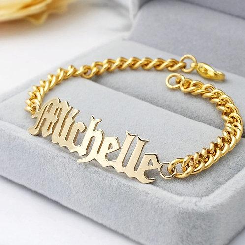 Personalized Name Bracelet Custom Nameplate Bracelet Charms Jewelry Engraved