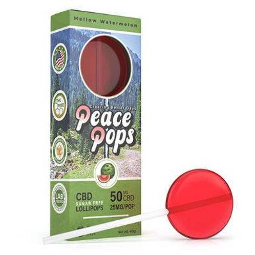 Creating Better Days - CBD Edible - Peace Pops - Mellow Watermelon - 2pc-25mg