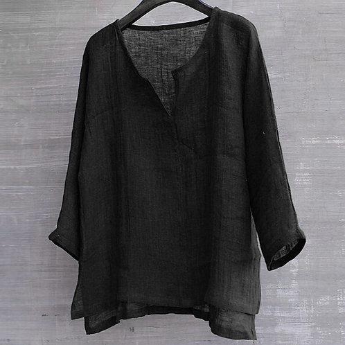 Harajuku Man Shirt  Solid Color Cotton Comfortable Long Sleeve Clothing Camiseta