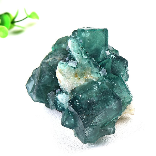 1PC Natural Stone Green Fluorite Mineral Crystal Specimen Cluster  Health Energy