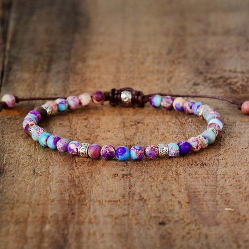 Premium Beads Bracelets Stone Japser Fancy Friendship Lovers Yoga Bracelet