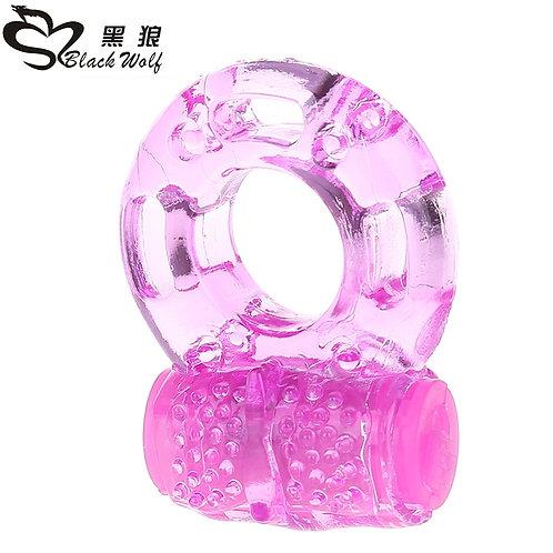 Black Wolf Finger Ring Vibration Sex Toys Jelly Vibrating Sex Adjustable