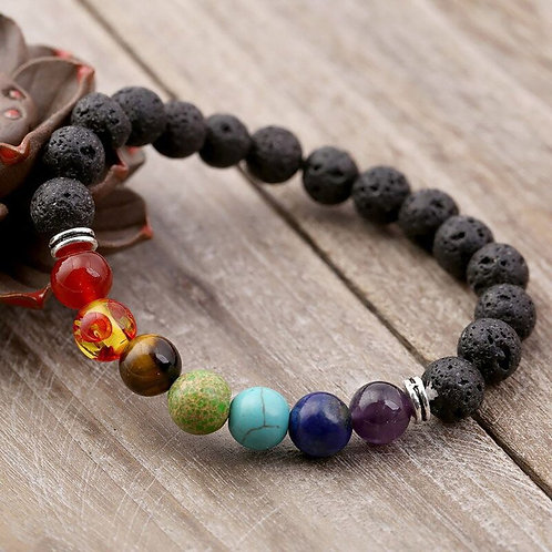 New Energy Volcanic Stone Bracelet Mixed Batch Natural Stone Hand-Woven Bracelet
