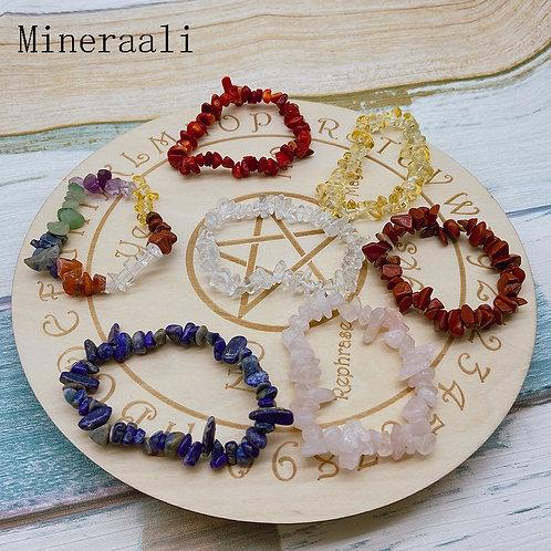 Irregular Natural Crystals 7 Chakras Stone Bracelet Beads Amethyst Aventurine