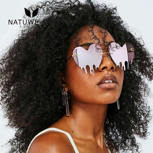 Heart Dripping Sunglasses Lady Women Mirror Imagine UV400 Eyewear