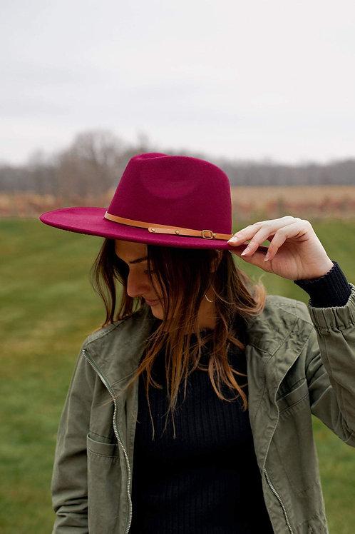 Wide Brim Felt Hat- New Colors