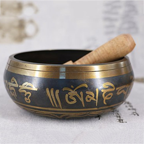 Nepal Large Tibetan BowlsTapping Craft Buddha Luneaire Chantant Meditation