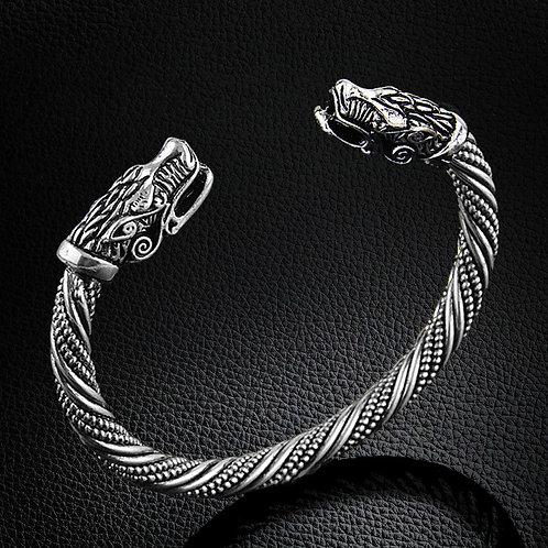 LAKONE Teen Wolf Head Bracelet Fashion Viking Wristband Cuff Bracelets