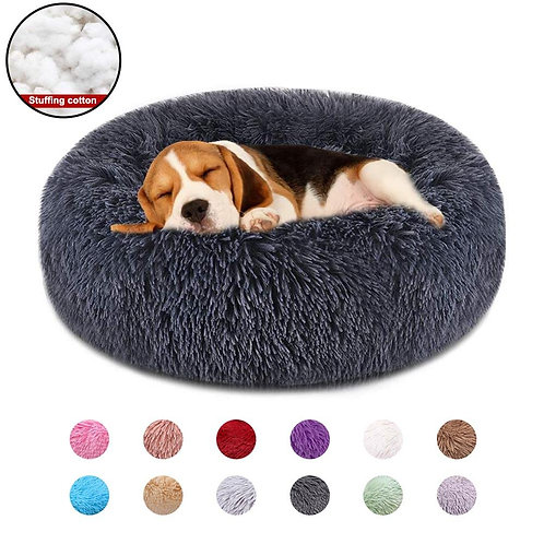 Dog Bed for Pets Super Soft Round Cat Beds Washable Dog Kennel Pet Supplies