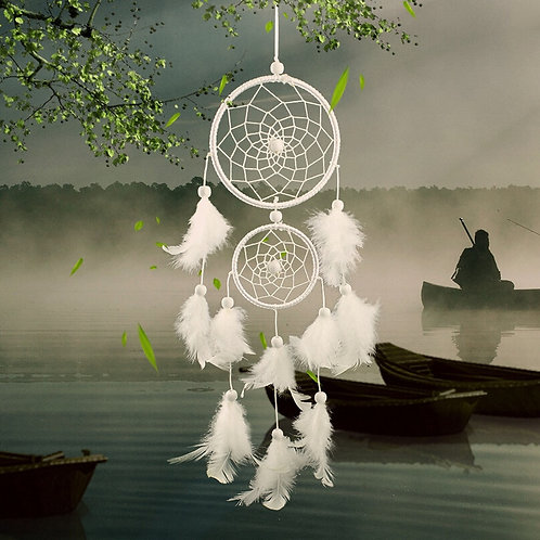 Dream Catcher Feather Weaving Catching  Dream Angels Dreamcatcher Wind chime