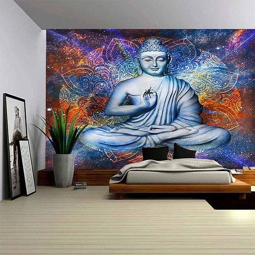 Buddha Statue Tapestry Wall Hanging Mandala Wall Carpet Tapestry Fabric Cloth