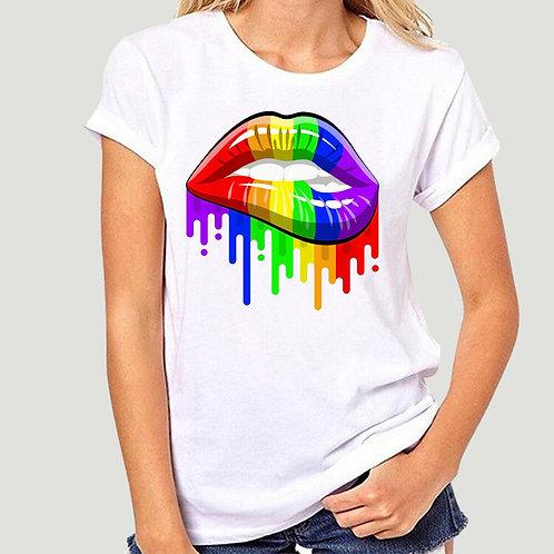 Rainbow Lips T-Shirt - LGBT Gay Pride FREE SHIPPING WORLDWIDE-2140A