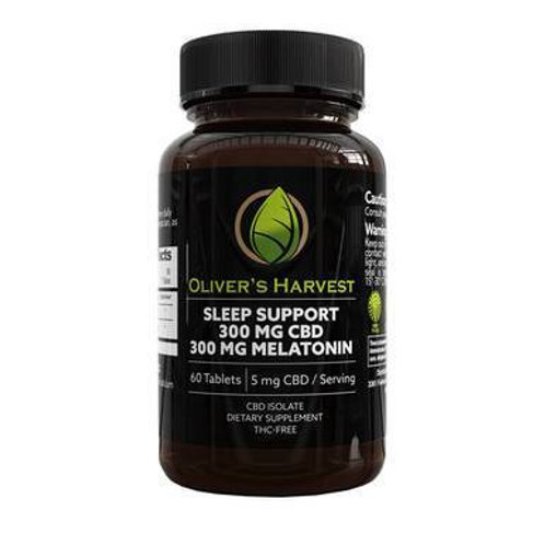 Oliver's Harvest CBD - CBD Capsule - Sleep Support Tablets - 5mg