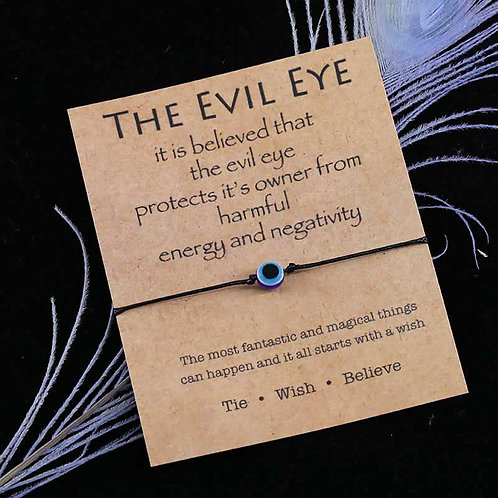 Dark Blue Evil Eye Wish Bracelet Evil Eye Bead Palm Charm Bracelet Lucky