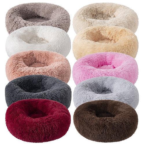 Long Pet Dog Bed Plush Super Soft Pet Bed Kennel Round Dog House Cat Bed