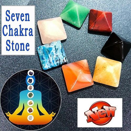 7 Chakra Pyramid Stone Set Crystal Healing Chakra Set or Jewelry Making Color