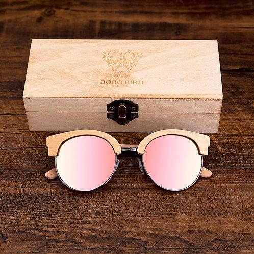 BOBO BIRD Sunglasses W/ M Wooden Style Eyewear in Gifts Wood Box