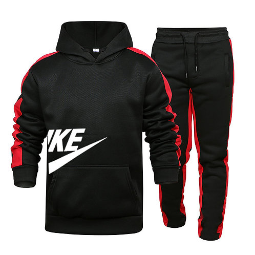 Custom Brand Casual Long-Sleeved Hooded Sports Suit Spring, Autumn and Winter