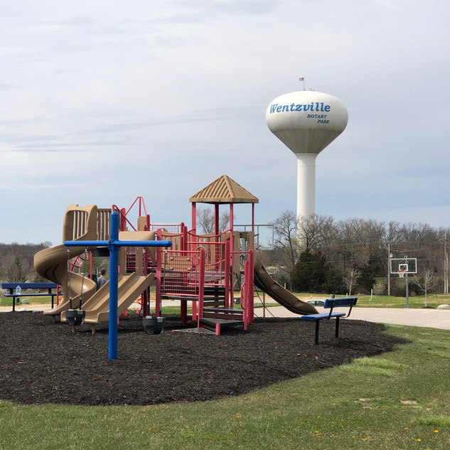Playground/basketball court