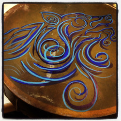 Abstract Wolf Drum