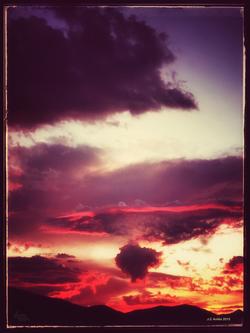 Desert Fire Sunset