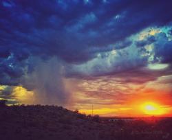 Desert Thunderstorm at Sunrise
