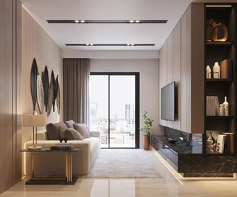 Praxis Apartment - Living Room Section