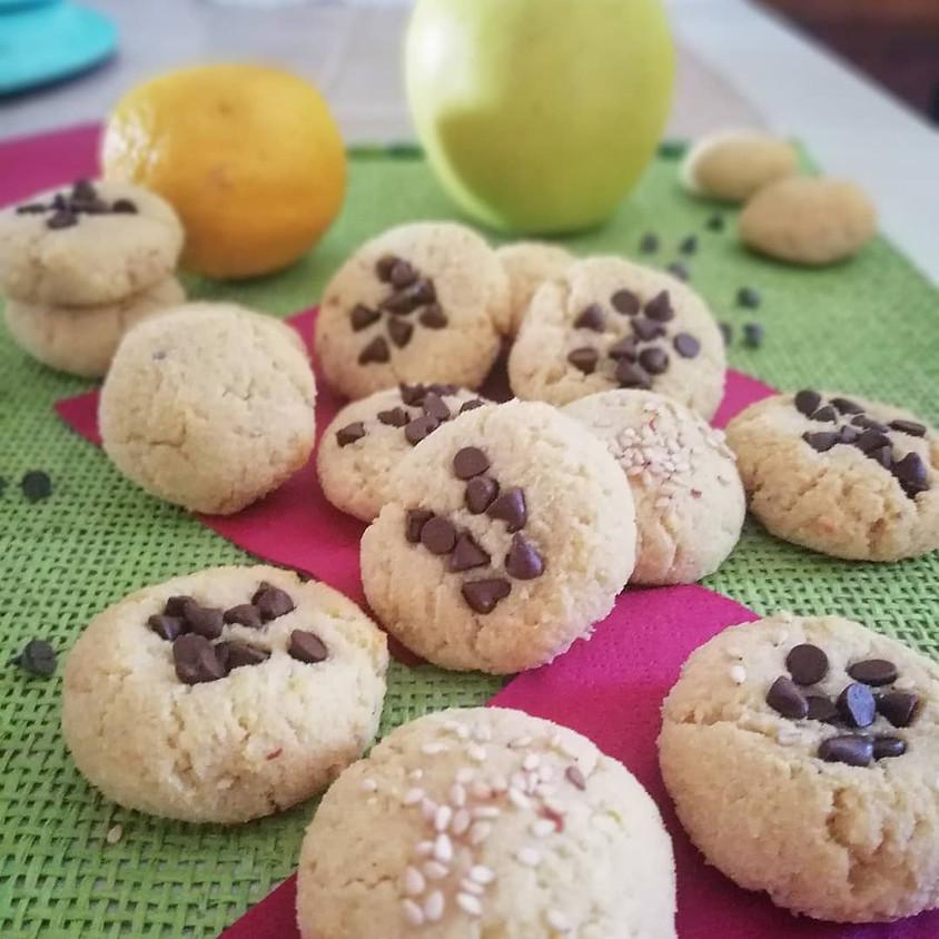 29/03 - Biscotti mandorle, mele e cioccolato