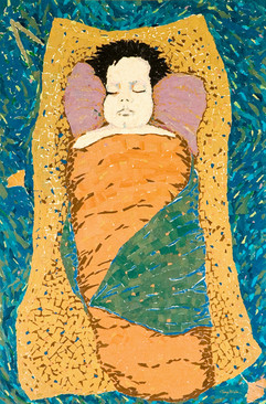 MOSES IN THE BED OF REEDS  (sold)