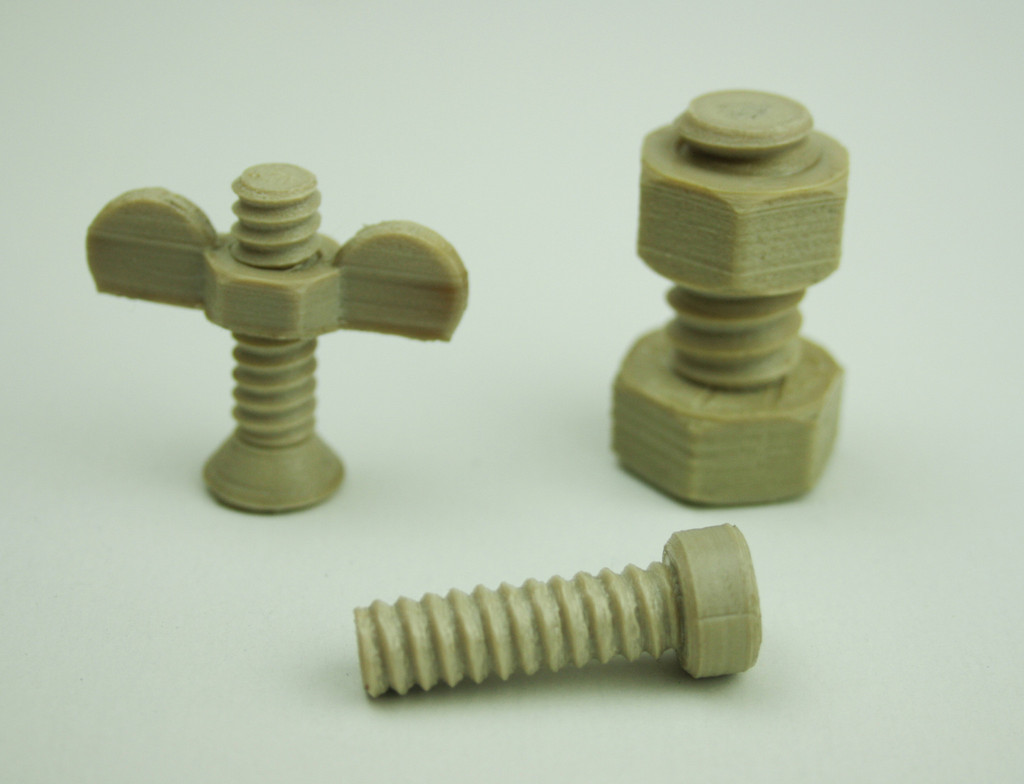 Nuts and Bolts - PEEK 3D Printing 3d4makers