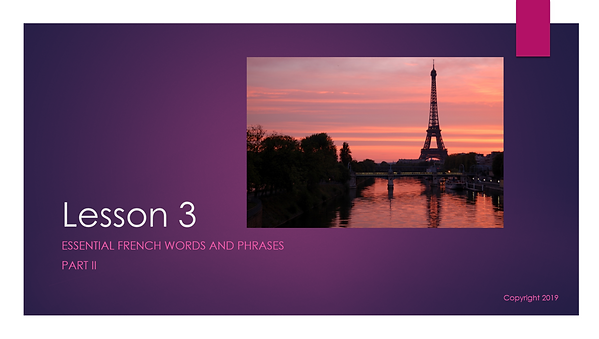 Conversational French free video