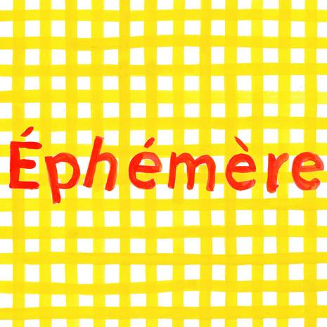 Logo for restaurant Éphèmère