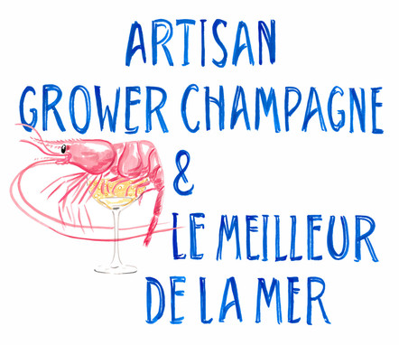 Logo for a seafood and champagne event
