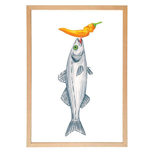 Sea bass and ají amarillo