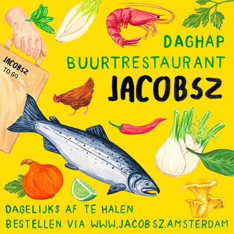 Flyer for restaurant Jacobsz