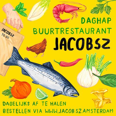 Flyer for restaurant Jacosz