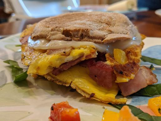 Western Omelette Breakfast Sandwich
